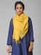 Yellow Handloom Cotton Silk Stole