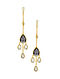 ISHARYA-Night Song Singing Dew Earrings Made with Swarovski Crystals