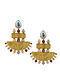 JJ VALAYA- Isfahan Grandeaur Earrings Made with Swarovski Crystals & pearls