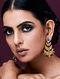 JJ VALAYA-Isfahan Chandbali Made with Swarovski Crystals & pearls