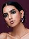 JJ VALAYA-Isfahan Studs Made with Swarovski Crystals & pearls