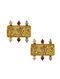 JJ VALAYA-Isfahan Brick Earrings Made with Swarovski Crystals & pearls