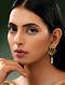 SHIVAN & NARRESH-Edomer Flaring Fall Earrings Made with Swarovski Crystals
