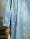 Blue Green Hand Block Printed Cotton Collared Kurta