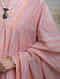 Pink Peach Hand Block Printed Cotton Kurta