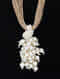 Brown-White Handcrafted Jute Necklace