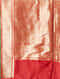 Red Cut Work Silk Dupatta wit Zari