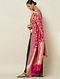 Pink Cut Work Silk Dupatta with Zari
