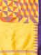 Yellow-Red Handwoven Ikat Silk Dupatta