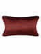 Peony Bloom Red Silk Cushion Cover (20in x 14in)