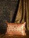 Medow Flower Orange Silk Cushion Cover (20in x 14in)