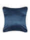Medow Flower Blue Silk Cushion Cover (20in x 20in)