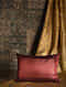 Shell Red Silk Cushion Cover (20in x 14in)