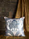 Garden of the East Blue Silk Cushion Cover (20in x 19.5in)