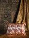 Cloud Floral Copper Silk Cushion Cover (20in x 13.5in)