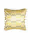 Zigzag Yellow Silk Cushion Cover (20in x 20in)