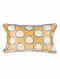 Polka Yellow Silk Cushion Cover (20in x 14in)