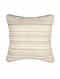 Tussar Off White Silk Cushion Cover (18in x 18in)