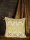 Panthera Lemon Yellow Cotton and Silk Cushion Cover with Tassels (20in x 20in)