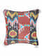 Uzbec Floral Red Silk Cushion Cover with Tassels (20in x 20in)
