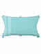 Mandolin Aqua Cotton and Linen Cushion Cover with Tassels (20in x 14in)