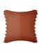 Atom Stripes Rust Cotton and Linen Cushion Cover (18in x 18in)