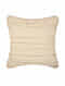 Evening Sand Stripes Off White Cotton and Linen Cushion Cover (18in x 18in)