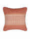 Block Stripes Red Cotton and Linen Cushion Cover (18in x 18in)