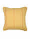 Grid Checks Ochre Cotton and Silk Cushion Cover (18in x 18in)