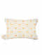Diamond White Cotton Cushion Cover (16in x 12in)