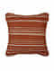 Evening Sand Rust Cotton and Linen Cushion Cover (18in x 18in)