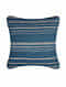 Evening Sand Blue Cotton and Linen Cushion Cover (18in x 18in)