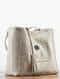 Beige Printed Reversible Tote Bag