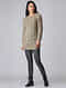 Beige Hand-knitted Wool Top