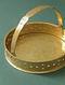 Handcrafted Brass Basket (Dia:20cm, H:4cm)
