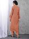 Peach Layered Zari Silk Cotton Kurta