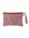 Brown Hand Embroidered Khadi Pouch