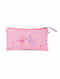 Pink Hand Embroidered Khadi Pouch