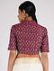 Pink Handloom Silk-Cotton Ikat Blouse