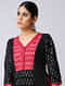 Black-Red Ikat Cotton Kurta by Jaypore