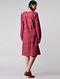 Pink-Ivory Handloom Cotton Ikat Dress by Jaypore