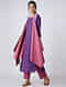 Purple-Pink Handloom Cotton Reversible Cape by Jaypore