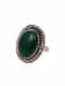 Tribal Silver Ring with Malachite