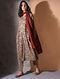 Multicolor Tie-up Waist Kalamkari Cotton Pants
