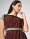 Beige-Madder Ajrakh-printed Cotton Dress with Belt
