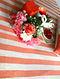 Moshki Coral-Cream Cotton Silk Queen Size Dohar (90in x 84in)