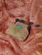 Beige Quilted Thread-Embroidered Cotton Silk Coin Purse