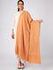 Orange Sozni-embroidered Pashmina Cashmere Shawl