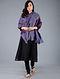 Blue-Red Pashmina Pelt shawl