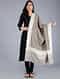 Grey-Ivory Pashmina Pelt shawl
